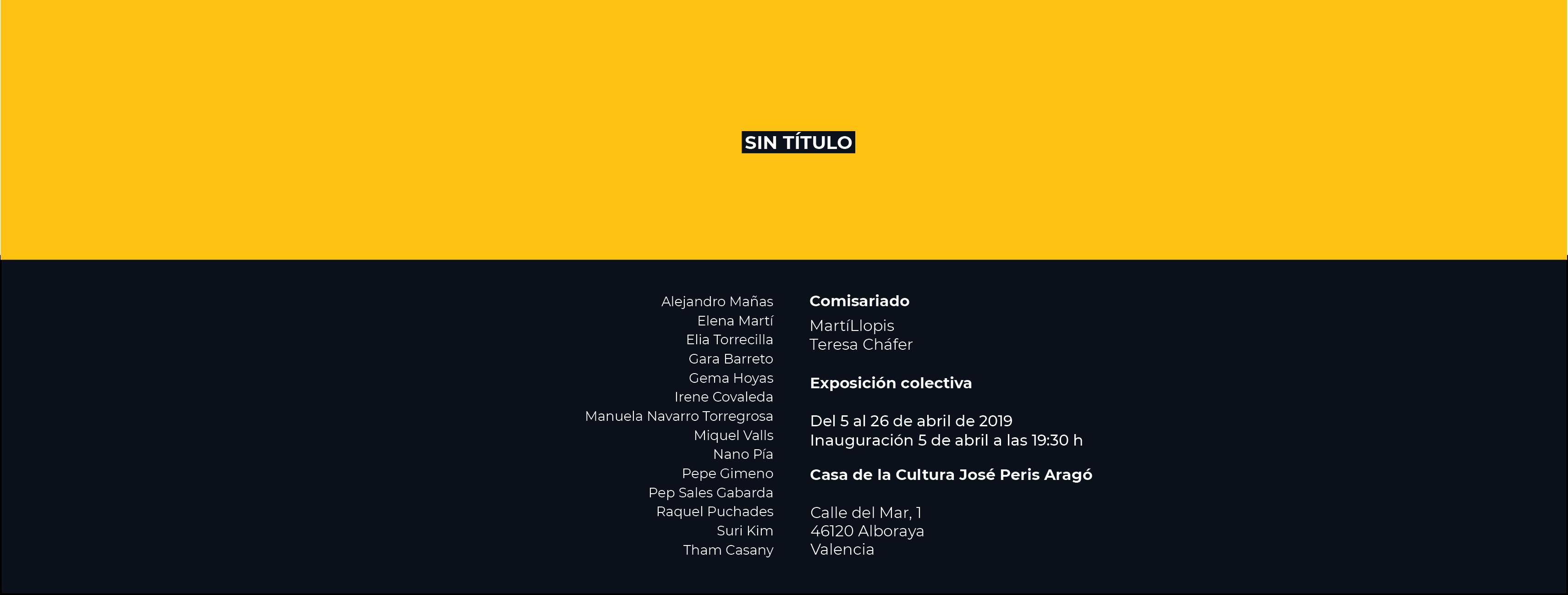 SIN TÍTULO. Exposicion colectiva