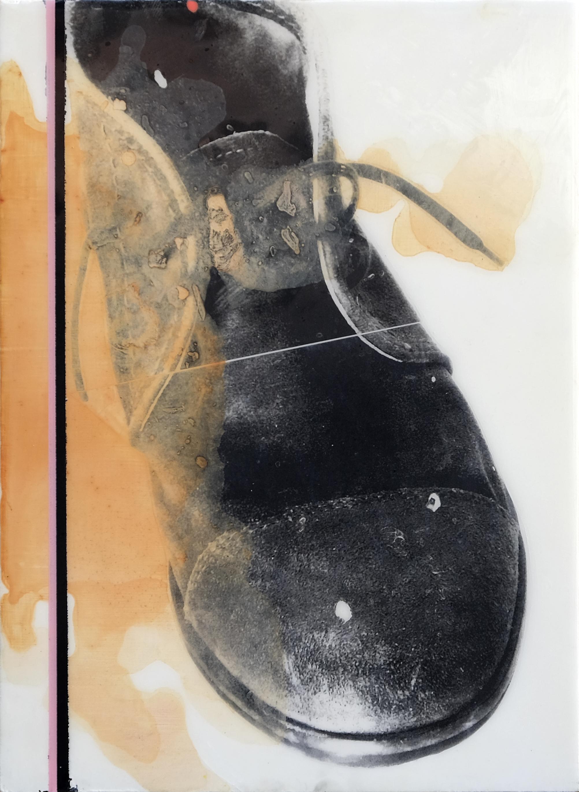 ROSA I NEGRE. Técnica mixta sobre tabla. 51,5 x 37,5 cm. 2017