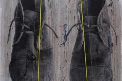 SANTIAGO. Técnica mixta sobre tabla. 150 X 122  cm. 2017