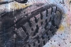 TAURÓ 2. Técnica mixta sobre tabla. 100 x 80 cm. 2017