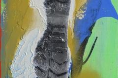 PETJADES EN OCRE. Técnica mixta sobre tabla. 30 x 23cm. 2017