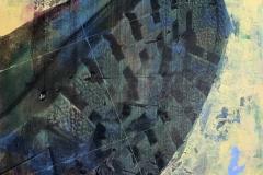 TAURÓ EN GROC. Técnica mixta sobre tabla. 69 x 61 cm. 2017